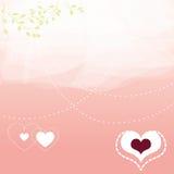 Fundo encoberto romântico Imagens de Stock Royalty Free