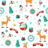 Fundo engraçado do Natal ilustração stock