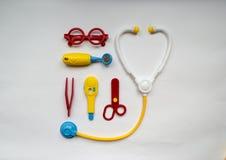 Fundo engraçado sobre a saúde de crianças Foto de Stock