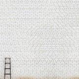 Fundo enorme resistido da parede de tijolo Imagens de Stock