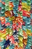 Fundo enrugado colorido brilhante da tela Imagem de Stock Royalty Free
