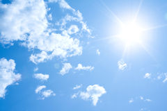Fundo ensolarado do céu Foto de Stock