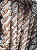Fundo envelhecido cinza do grupo da corda do mar foto de stock