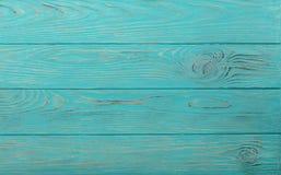 Fundo envelhecido de madeira da cor dos azuis celestes fotos de stock