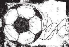 Fundo esboçado da bola de futebol Foto de Stock