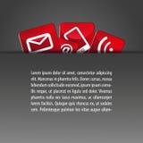Fundo escondido do molde dos ícones dos botões Foto de Stock