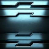 Fundo escovado azul do metal ilustração do vetor
