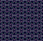 Fundo escuro abstrato com formas do triângulo do pulso aleatório, teste padrão sem emenda da tecnologia ilustração royalty free