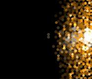 Fundo escuro abstrato da informação da tecnologia do hexágono do ouro Fotos de Stock Royalty Free