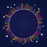 Fundo escuro com bandeiras coloridas Imagem de Stock Royalty Free