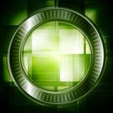 Fundo escuro da olá!-tecnologia do vetor Imagens de Stock Royalty Free