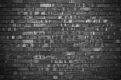 Fundo escuro da parede de tijolo fotografia de stock