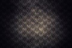 Fundo escuro da parede do Grunge com teste padrão retro Imagem de Stock Royalty Free