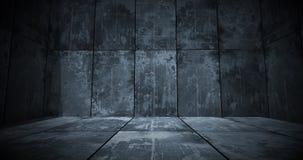 Fundo escuro da sala do metal imagens de stock royalty free