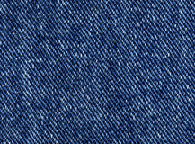 Fundo escuro da textura da sarja de Nimes Imagem de Stock Royalty Free
