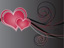 Fundo escuro do dia dos Valentim Ilustração do Vetor