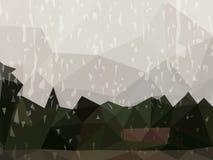 Fundo escuro do sumário do vetor de chover o dia ilustração royalty free