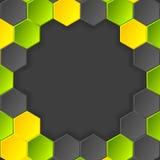 Fundo escuro do vetor abstrato da olá!-tecnologia com Imagem de Stock Royalty Free