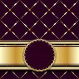 Fundo escuro do vintage com malha do ouro ilustração royalty free
