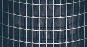 Fundo escuro e abstrato da grade do metal Imagem de Stock Royalty Free