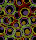 Fundo escuro sem emenda composto dos círculos transparentes Fotografia de Stock Royalty Free