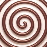 Fundo espiral abstrato do chocolate e do creme Imagens de Stock