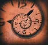 Fundo espiral abstrato do pulso de disparo Tempo torcido Imagens de Stock Royalty Free