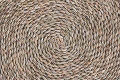 Fundo espiral de vime da textura do teste padrão foto de stock