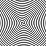 Fundo espiral hipnótico Sulcos do vinil Ilusão ótica ilustração do vetor