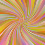Fundo espiral multicolorido abstrato alaranjado do raio Fotografia de Stock Royalty Free