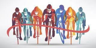 Fundo estilizado da raça de ciclismo Imagens de Stock Royalty Free