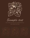 Fundo estilizado do broun da flor. Hibiscus do vetor Ilustração Royalty Free