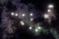 Fundo estilizado do zodíaco ilustração do vetor