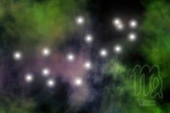 Fundo estilizado do zodíaco Fotografia de Stock