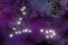 Fundo estilizado do zodíaco Imagem de Stock