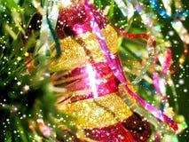 Fundo estilizado para cumprimentar com ano novo e Natal Imagem de Stock