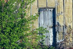 Fundo estranho abstrato Porta de madeira velha Portas velhas foto de stock royalty free