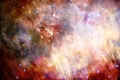 Fundo estrelado brilhante galáctico nevoento colorido do sumário artístico ilustração royalty free