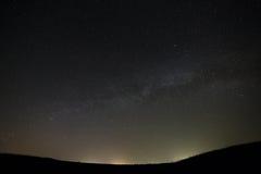 Fundo estrelado do céu da noite Fotos de Stock