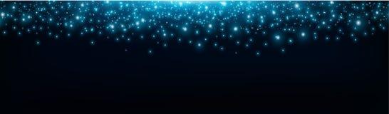 Fundo estrelado do espaço, estrelas de queda brilhantes, galáxia, efeito da luz bonito Os Sparkles brilham o efeito da luz, estre ilustração stock