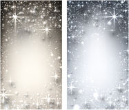 Fundo estrelado do Natal do inverno Fotos de Stock