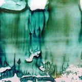 Fundo estrutural colorido brilhante abstrato da aquarela feito a mão Pintura de uma montanha do gelo no mar frio do norte L moder
