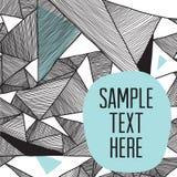 Fundo estrutural moderno de testes padrões triangulares geométricos Fotos de Stock Royalty Free