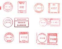 Fundo europeu dos medidores de porte postal Fotografia de Stock