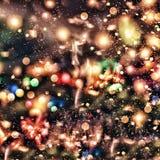 Fundo feericamente mágico Bokeh, borrão, borrado Fundo do Natal, Natal fotografia de stock royalty free