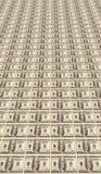 Fundo feito das notas de banco do dólar Imagem de Stock