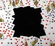 Fundo feito de cartões de jogo Imagem de Stock Royalty Free