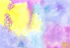 Fundo feito a mão da aquarela do artesanato para o projeto Imagem de Stock Royalty Free