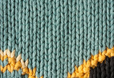 Fundo feito malha colorido da textura de lãs Fotografia de Stock