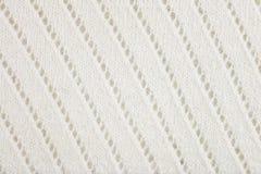 Fundo feito malha de lã branco da tela imagens de stock royalty free